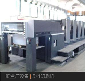 紙盒廠設備|5+1印刷機