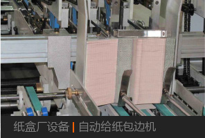 紙盒廠設備|自動給紙包邊機
