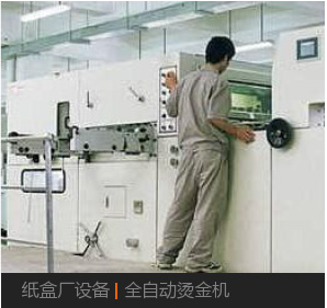 紙盒廠設備|全自動燙金機